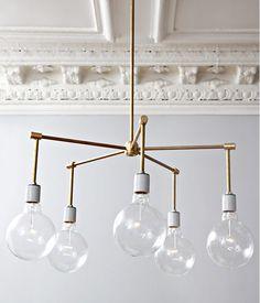 #DIY Brass 5-Light Chandelier