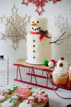 Wow!! just look at this fabulous christmas cake! You don't want to miss this party! See more party ideas and share yours at CatchMyParty.com