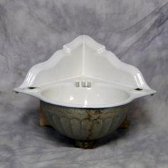 Antique Corner Sink : Vintage Cast Iron Corner Sink