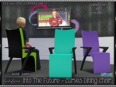 SrslySims | 'Into the Future' Curves Dining Chair