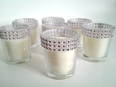 Votive Candles Pink Bling Rhinestone Diamond by TheDeevaShop, $38.95