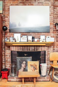 13 Ways To Turn A Tiny Pad Into A Palace #refinery29  http://www.refinery29.com/ideas-for-small-space-living#slide8  BEFORE Our huge working fireplace is the showpiece of our apartment, and its mantle serves as an ever changing makeshift art gallery. Which, over time, can turn into a bit of a clutter bomb.