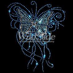 Blue Rhinestone Butterfly | The Wild Side