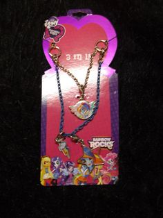 My Little Pony Rarity Pendant Necklace Officially Licensed Merchandise NWT