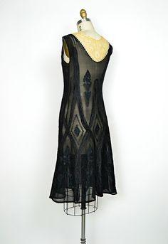 Vintage Clothing 1920s Dresses | vintage 1920s flapper art deco lace dress [Venetian Masquerade Dress ...