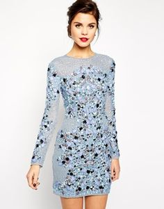 ASOS RED CARPET Premium Mermaid Bodycon Dress - Who doesn't love a bodycon?  I sure do and this gorgeous sequin and jewel embellishment is perfect for Christmas - http://asos.do/AQ90am