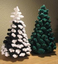 Evergreen Tree Pattern.  Free Christmas crochet pattern from Loops and Ramblings.  Thank you!