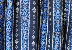 This classic mixed print maxi featuring a silky-smooth fabrication and an elasticized drawstring waist is a perfect outfit for your summer vacation or relaxed casual affairs.  As you walk in this flattering blue-tone skirt with your favorite sun hat (and your radiating beautiful smile), you will catch all eyes at once. <Maxi skirt / Skirt / Maxi / Long skirt / blue skirt>