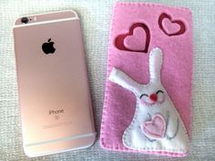 Kawaii Bunny case for iPhone 6s. Handmade case to protect your iPhone from scratches and dust when it's in your handbag or pocket. Unique handmade gift!  Custom order:  If you dont like the color, would like to change the design of the applique or add any inscription - contact me!  Handmade case made with love and care.  Thank you for visiting my shop! More gift ideas here https://www.etsy.com/shop/FairyBeadsStore?ref=hdr&section_id=20717648  SHIPPING:  I sh...