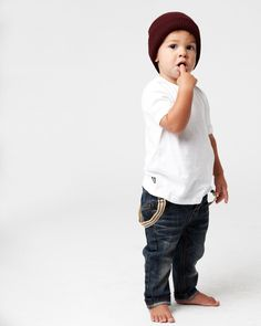 the BASIC PD CREW Tee, available in ages 0 - 14. the BLACKSMITH jeans, available in ages 0 - 2. www.industriekids.com.au