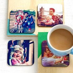 Set Of Four Personalised Drinks Coasters from notonthehighstreet.com