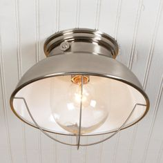 Nantucket Ceiling Light 3 Colors (Ant. Copper, Black Charcoal, and Brushed Stainless Steel)
