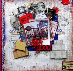 My DT layout for 2 Crafty Chipboard based on a challenge from CSI challenge blog. By Di Garling