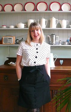 Two more Colette Pattern makes: Violet blouse and Beignet skirt.