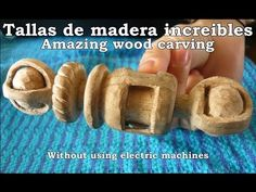 Tallas increíbles en madera - Amazing wood carving - YouTube