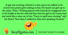Funny alcohol jokes and drinking jokes. Perfect for a funny night out. Will make you and your friends laugh. Also check our thousands of other jokes. - Page 2 Alcohol Jokes, Funny Alcohol, A Funny, Funny Jokes, Drinking Jokes, Friends Laughing, I Love To Laugh, Puns, Feelings
