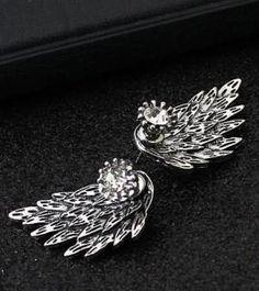Rhinestone Angel Wing Earrings