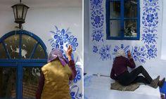 Senhora de 87 anos usa seu tempo livre para pintar casas e deixar o mundo mais bonito