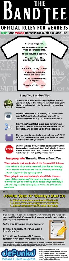 Rules for Wearing a Band Tee.  YES PLEASE.