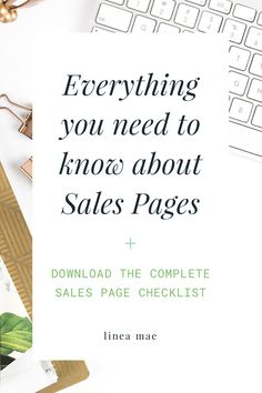 If you aren't sure about where to start with sales pages or you're just getting ready to launch something new, these tips are for you. I take you through each section you need for your sales page, along with exactly HOW your audience should experience it. Not to mention I give you my top 3 copywriting tips and top 3 design tips for sales pages. The free download is the exact checklist I use with my custom sales page clients. This is the checklist I personally go through when creating pages…
