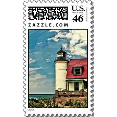 Point Betsie Lighthouse Postage Stamps