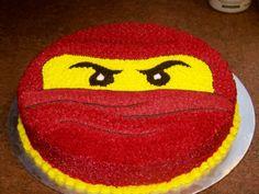 "Red Ninjago - 12"" round devil's food cake buttercream icing"