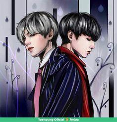 image by ♥kim taehyung♥bts. Discover all images by ♥kim taehyung♥bts. Find more awesome vkook images on PicsArt. Vkook Fanart, Taekook, Yoonmin, Wattpad, K Pop, Bts Anime, Daddy, Brave, Boy Music