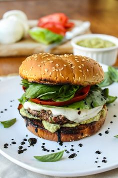 Mash up two of summer's favorite meals by topping your patty with fresh mozzarella, basil, and tomato—just like a caprese!
