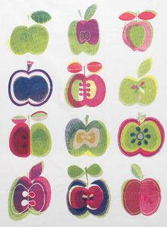 paperchase apple print