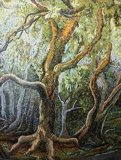 Mosaic Airport Mural – Houston Bayou – Mosaic Artist – Dixie Friend Gay – Houston, Texas | Mosaic Art Source