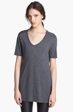 Free shipping and returns on T by Alexander Wang Pocket Tee at Nordstrom.com. A lightweight heathered tee is styled with a loose shape and softly scooped neck.