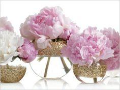 Glitter & floral arrangements!