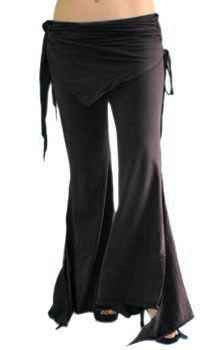Tribal Fusion Gothic Belly Dance Pants SIZED - BLACK