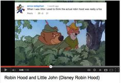 I totally thought this.   The 16 Funniest YouTube Comments On Disney Movie Clips - BuzzFeed Mobile