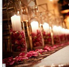 Candles, petals, aisle