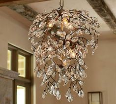 Bella Crystal Round Chandelier $399 - how about something really fun and different in the dining room??