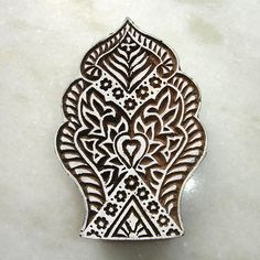 Hand Carved Wood Stamp: Large Indian Stamp, Print Block for Textiles, Ceramics, Pottery, Wall Hanging, Indian Decor. $27.00, via Etsy.
