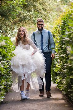 5 Unexpected Things to Wear With Your Wedding Dress: #5. Sneakers