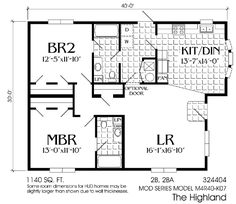 20 x 30 floor plans 2 bedrooms room ideas pinterest bedrooms 2br 2bath great western homes inc po box 537 poncha springs malvernweather Choice Image