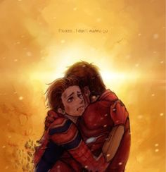 Peter Parker's death scene, Infinity War, Credit to artist