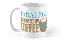 Paralegal powered by coffee • Also buy this artwork on home decor, apparel, stickers, and more.