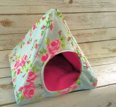 Custom Hedgehog Tent Guinea Pig Plush Fleece Hidey Hut House Pick from over 200+ fabrics