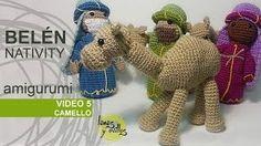 Free crochet video tutorial & pattern #crochet - Nativity Scene Camel - Spanish with English Subtitles