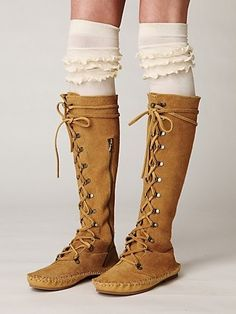 Boots and knee high socks