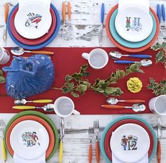 Fiesta Dinnerware 12 Days of Christmas collection. Learn more at .alwaysfestive.com & Recipes by Occasion | Fiestas Dinnerware and Holidays
