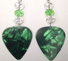 Guitar Pick Earrings by AuntShellDesigns on Etsy