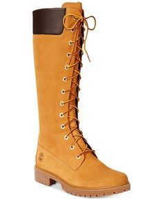 "Timberland Women's 14"" Premium Lace-Up Boots - Boots - Shoes - Macy's"