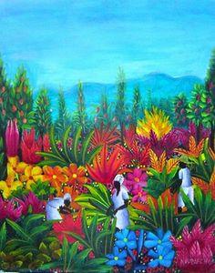Native Art from Haiti for Sale Art Haïtien, Art Tropical, Le Baobab, African Art Paintings, Haitian Art, Caribbean Art, Art For Sale Online, Writing Art, Arte Pop