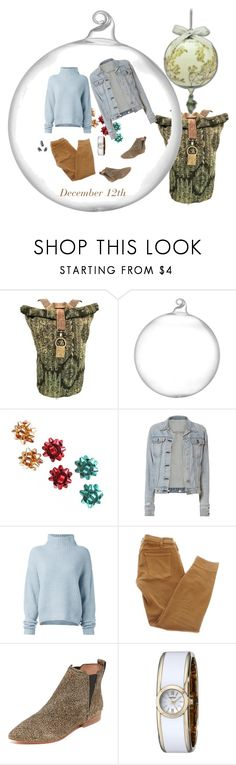 """""""OOTD"""" by yesitsme123 ❤ liked on Polyvore featuring Crate and Barrel, rag & bone, Le Kasha, Current/Elliott, Madewell and Caravelle by Bulova"""
