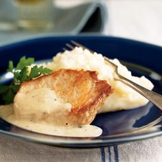Pork Chops with Country Gravy and Mashed Potatoes by Cooking Light
